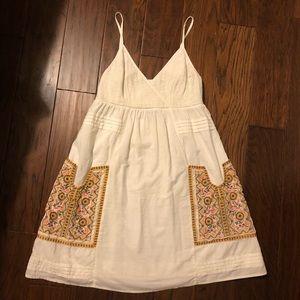 Vanessa Virginia Anthropologie Cream Dress Size 4